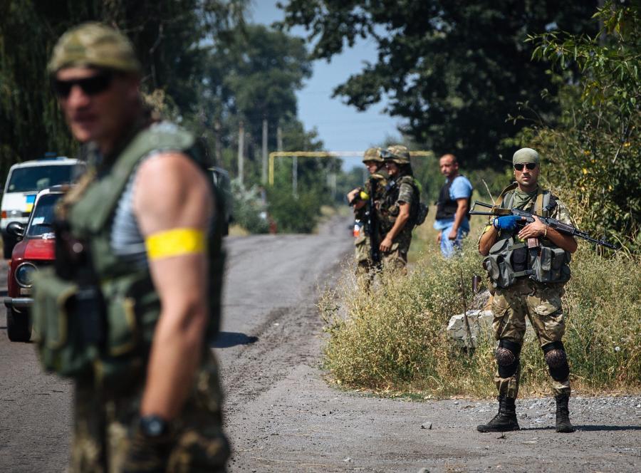Ukraińscy żołnierze z batalionu \