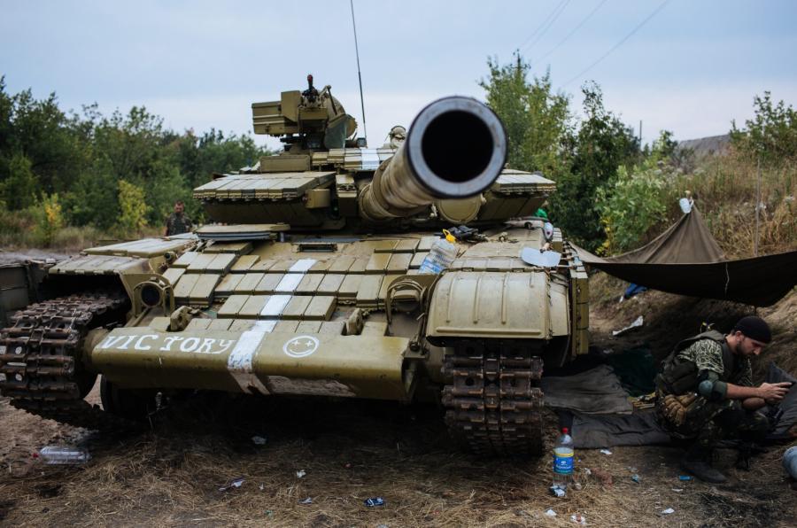 Ukraińska armia niedaleko Doniecka