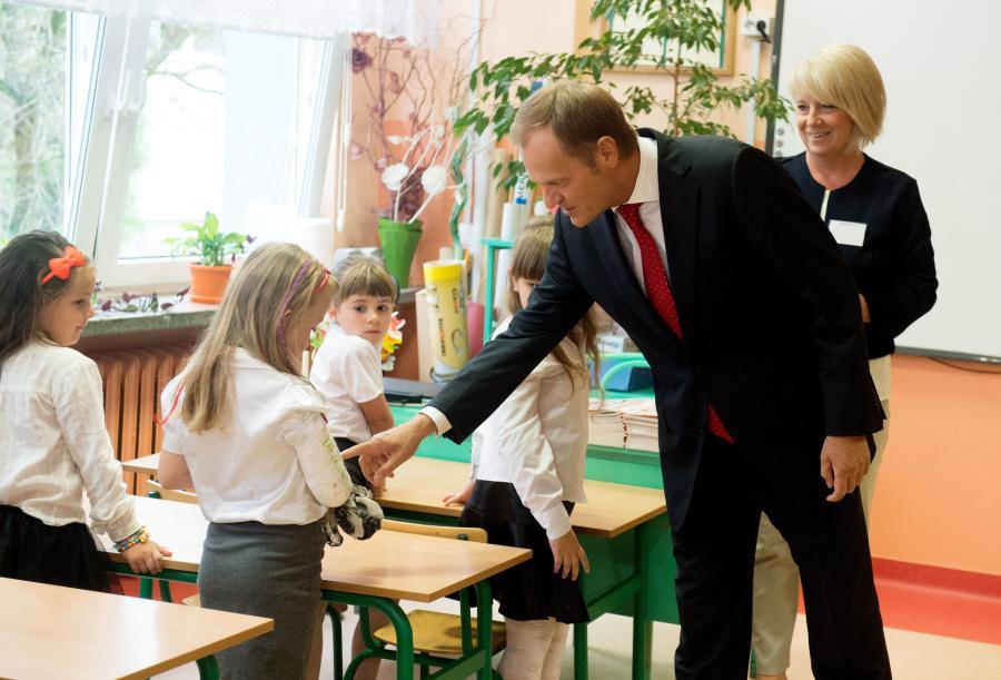 Donald Tusk w szkole