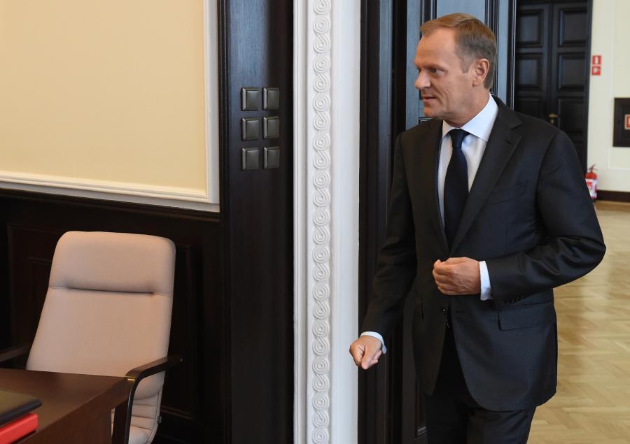 Premier Donald Tusk przed posiedzeniem rządu
