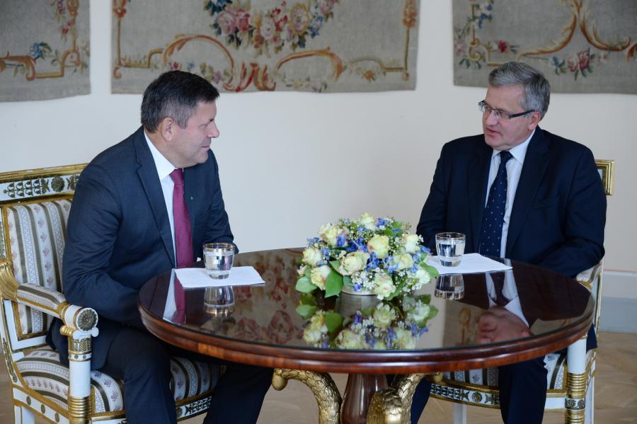 Janusz Piechociński i prezydent Bronisław Komorowski