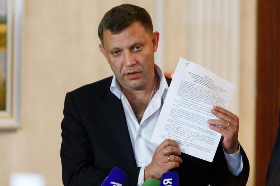 Aleksander Zacharczenko, premier samozwańczej Ludowej Republiki Donieckiej