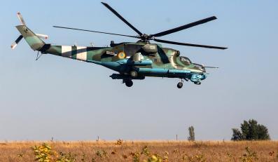 Śmigłowiec ukraińskiej armii nad Kramatorskiem