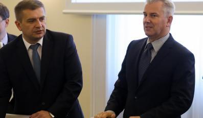 Bartosz Arłukowicz i Cezary Grabaczyk