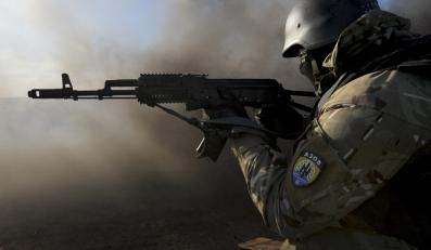 Ukraiński żołnierz z batalionu Azow