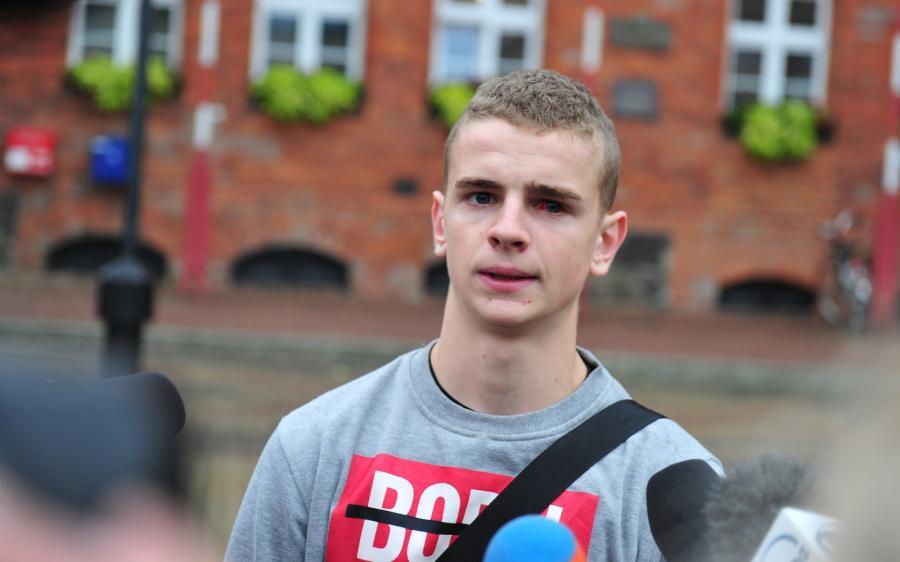 Grzegorz Mielczarek podczas spotkania z dziennikarzami