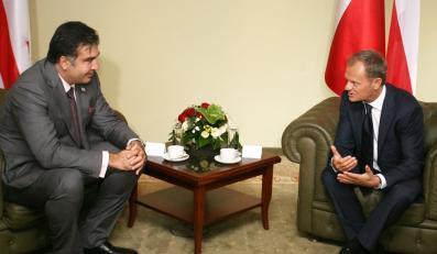 Micheil Saakaszwili i Donald Tusk