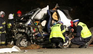 Wypadek w Rekowie Dolnym po pościgu policji