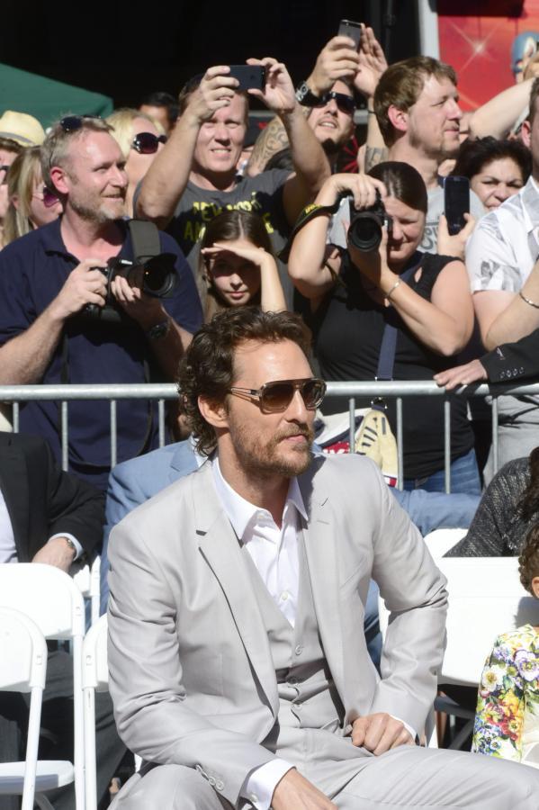Matthew McConaughey na Hollywoodzkiej Alei Sław