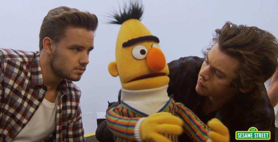 One Direction trafili na ulicę Sezamkową