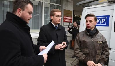 Liderzy Ruchu Narodowego: Witold Tumanowicz, Robert Winnicki i Krzysztof Bosak