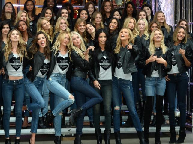 Aniołki Victoria's Secret przed Victoria's Secret Fashion Show 2014