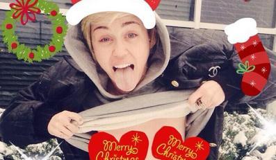 Miley Cyrus życzy wszystkim: Wesołych Świąt!