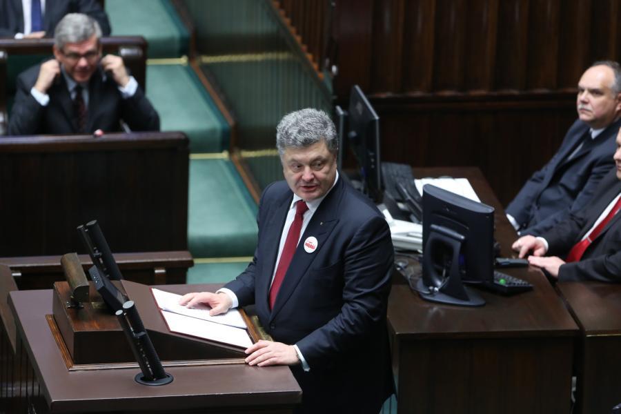 Petro Poroszenko w polskim Sejmie