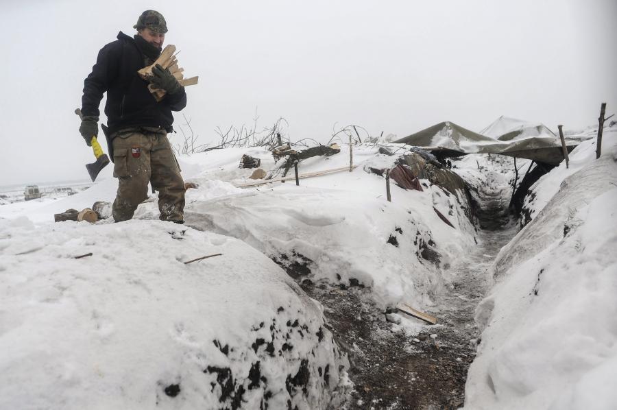 Ukraiński żołnierz z ochotniczego batalionu \