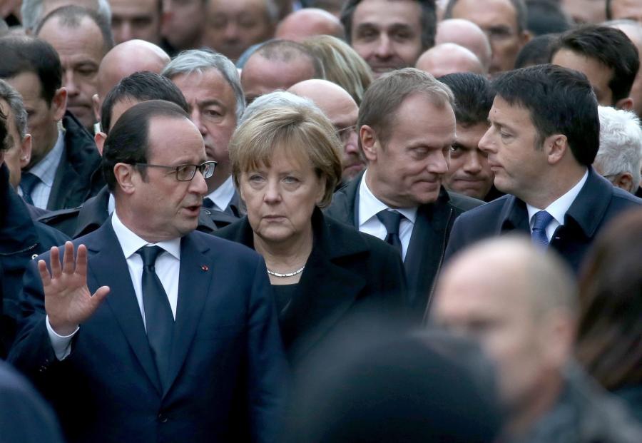 Francja, marsz przeciwko terroryzmowi