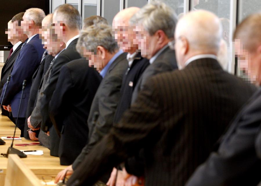 Oskarżeni podczas ogłaszania wyroku w sprawie katastrofy w rudzkiej kopalni \