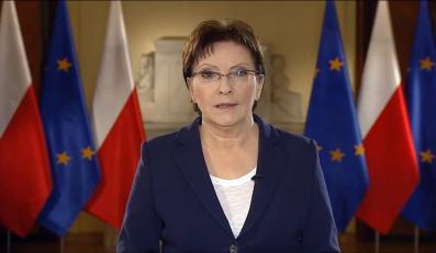 Ewa Kopacz wygłasza oświadczenie w sprawie sytuacji górnictwa