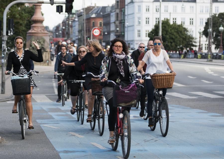 Rowerzyści w Kopenhadze, Dania