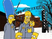 Simpsonowie w Auschwitz! Włoski artysta szokuje. ZDJĘCIA