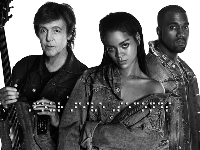Rihanna, Kanye West i Paul McCartney na okładce wspólnego singla