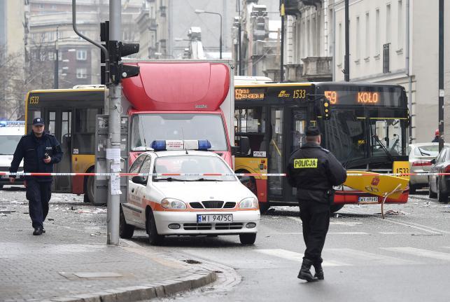 Wybuch gazu w centrum Warszawy