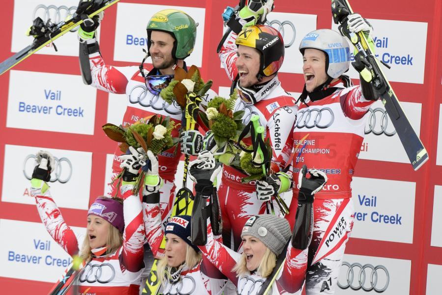 Drużyna Austrii, zwycięzcy mistrzostw świata w Beaver Creek