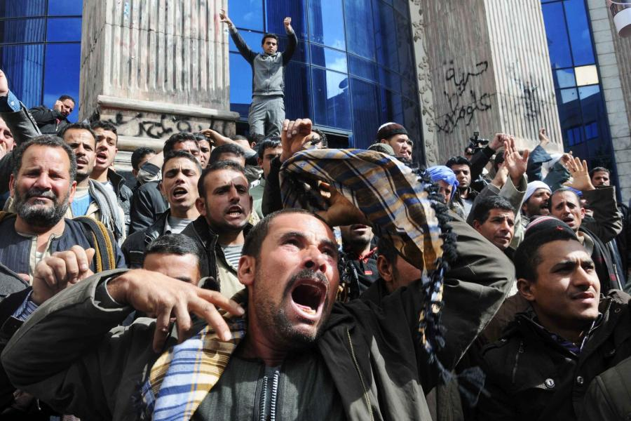 Protesty Egipcjan po porwaniu Koptów