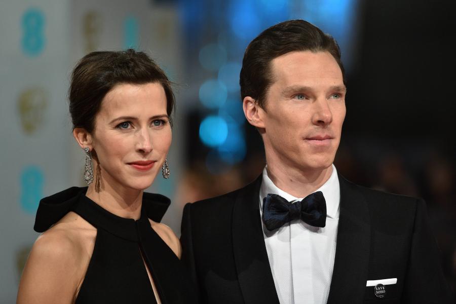 Świeżo poślubieni państwo Cumberbatch