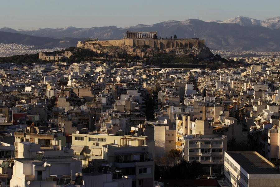 Grecja. Widok na Akropol