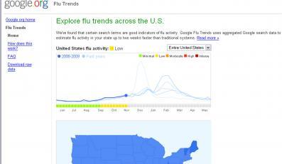 Google ostrzega przed grypą