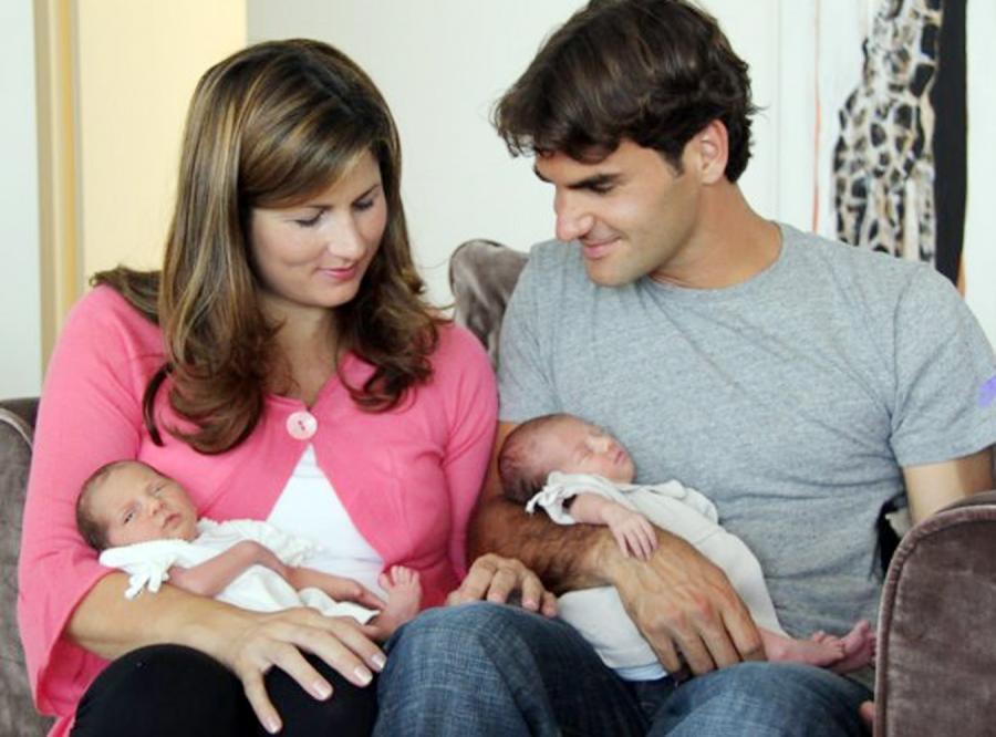 Federer pokazał swoje córeczki na Facebooku