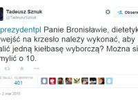 Tadeusz Sznuk wyśmiewa wpadki polityków na Twitterze