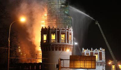 Pożar Monasteru Nowodziewiczego w pobliżu Kremla