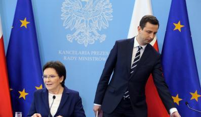 Premier Ewa Kopacz i minister pracy Władysław Kosiniak-Kamysz