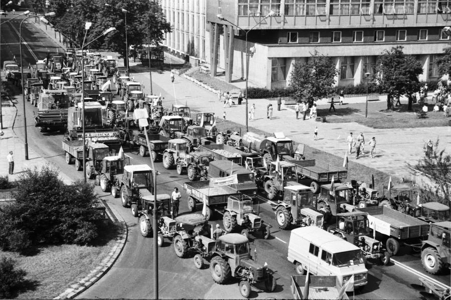 Rolniczy protest w Warszawie, 1989 rok
