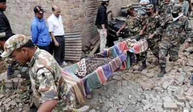 Akcja ratunkowa w Katmandu