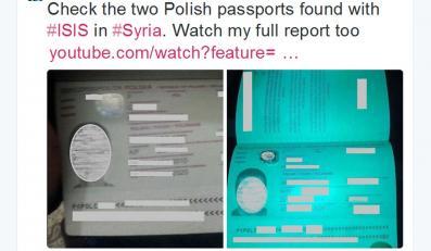Polskie paszporty, które przejęli terroryści z ISIS