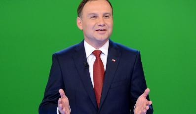 Andrzej Duda w czasie debaty w TVN
