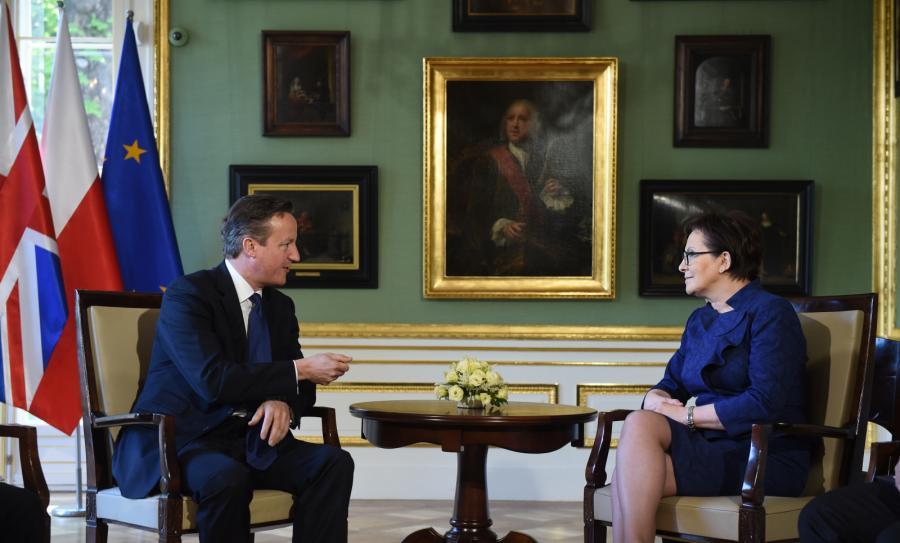 Premier Ewa Kopacz i David Cameron