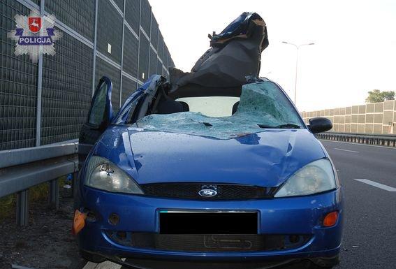 Ford focus po zderzeniu z łosiem