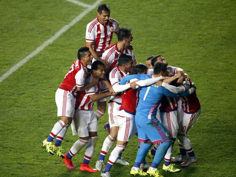 Radość piłkarzy z Paragwaju