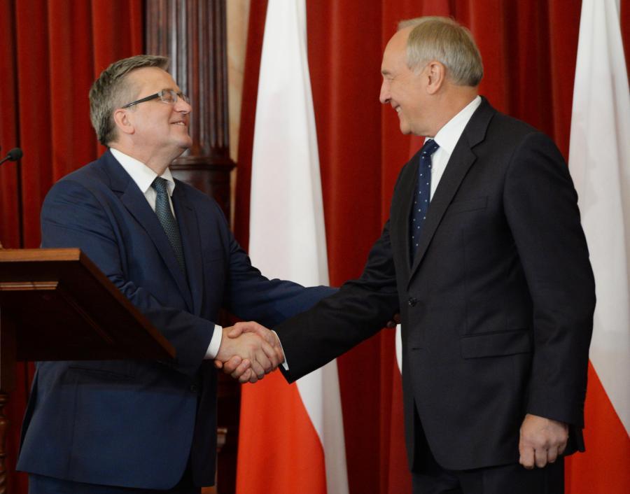 Prezydent Łotwy Andris Berzins i prezydent RP Bronisław Komorowski