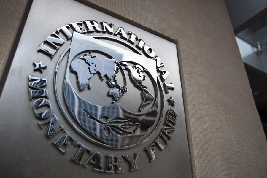 Logo Międzynarodowego Funduszu Walutowego (IMF)
