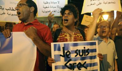 Marokańska demonstracja solidarności z Grecją