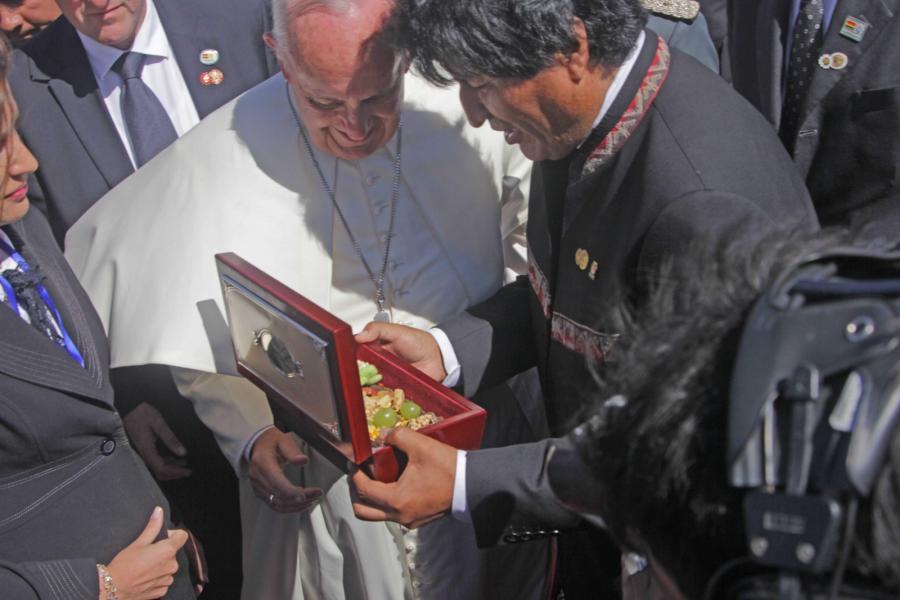 Papież Franciszek i prezydent Boliwii