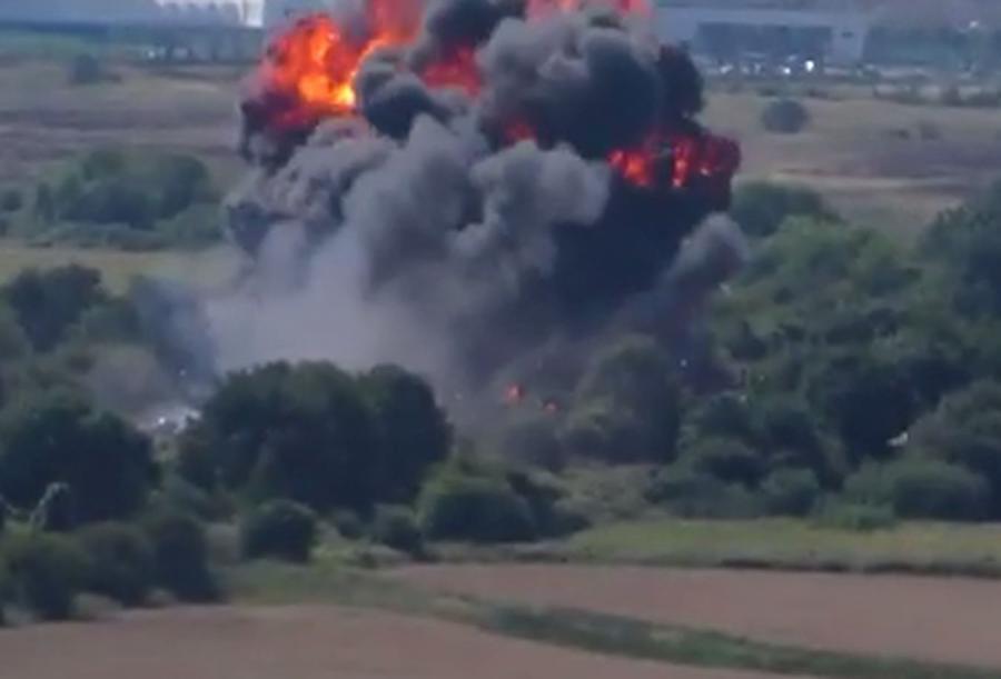 Katastrofa myśliwca w Wielkiej Brytanii
