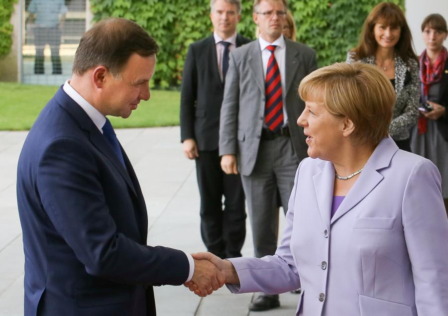 Andrzej Duda i Angela Merkel
