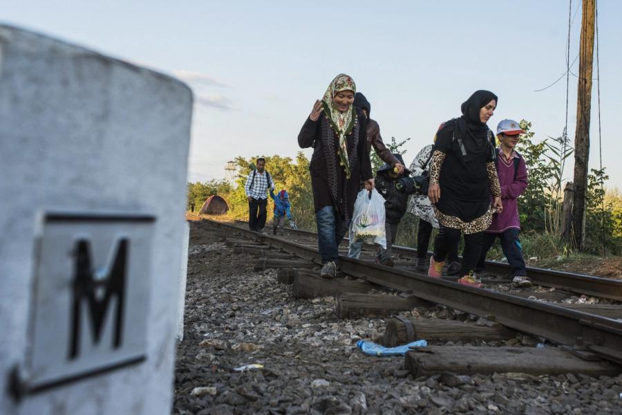 Imigranci na granicy serbsko-węgierskiej