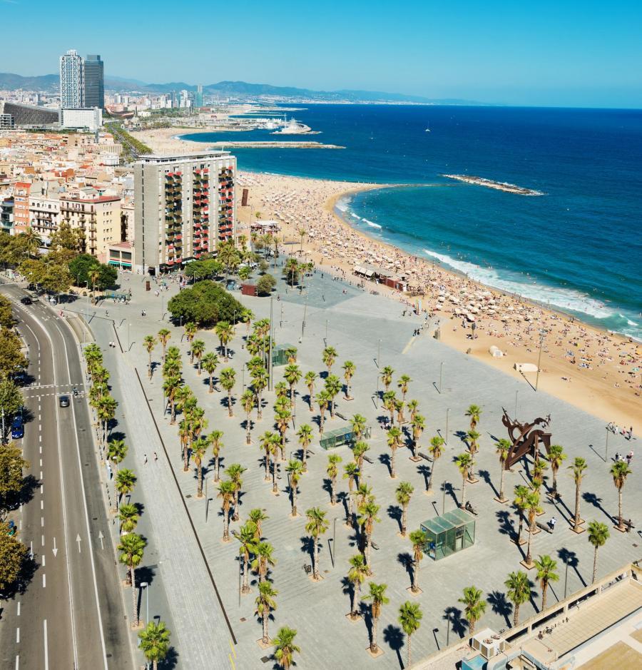 Barcelona - plaża Barceloneta